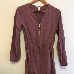 🌸Mauve half zip dress